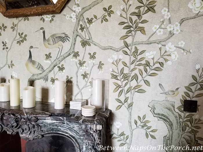 Hand-Painted Wallpaper, Goodnestone Park House
