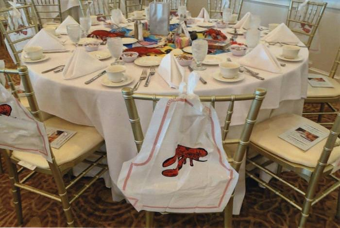 Lobster Themed Table Setting