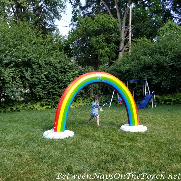 Rainbow Sprinkler, Water Toy for Summer for Kids