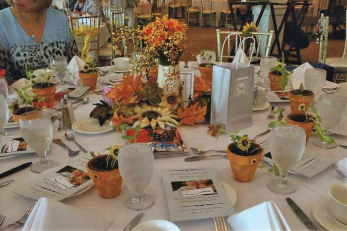 Sunflower Themed Table