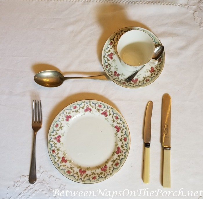 Thomas Hardy's Max Gate, Dorchester, Place Setting in Dining Room