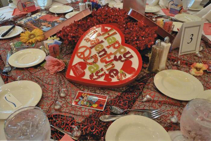 Valentine's Day Themed Table Setting