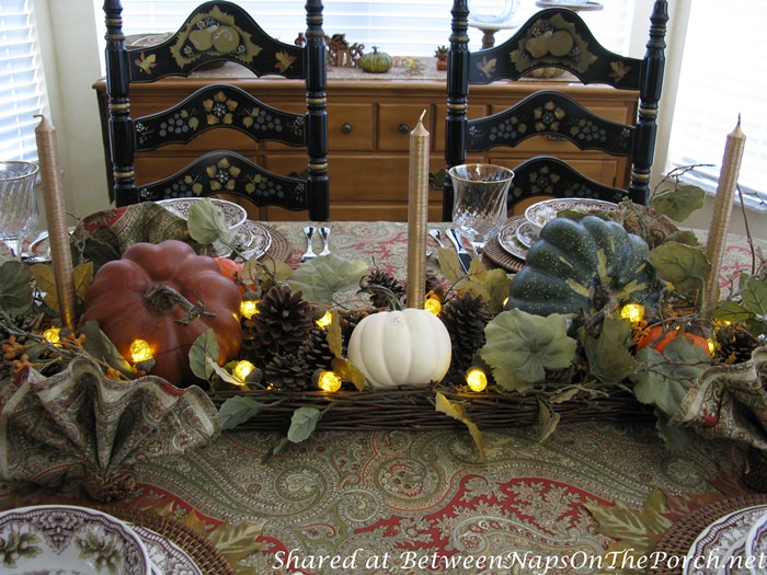 Beautiful Centerpiece for Fall, Autumn or Thanksgiving