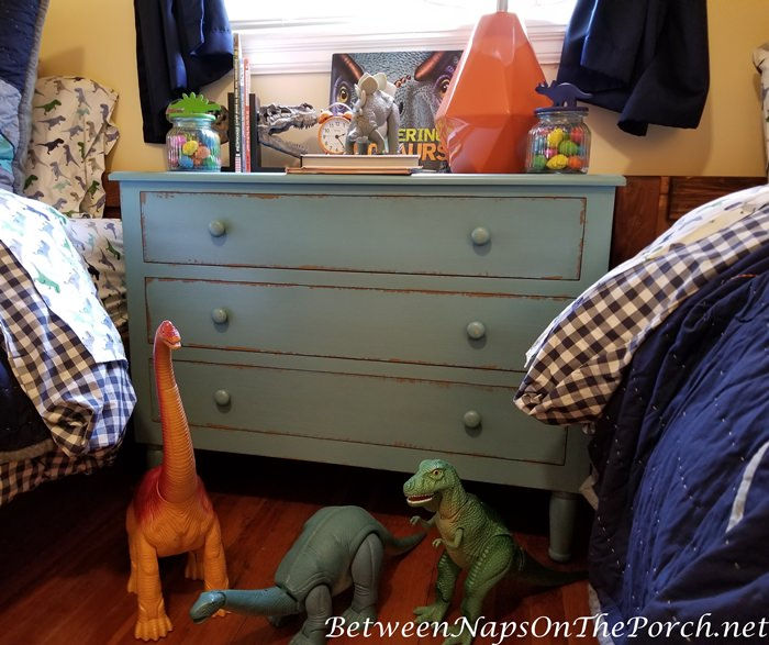 Blue Chest Bedside Table for Boy's Bedroom