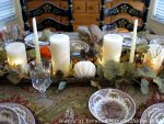 Fall-Autumn Table Inspiration & a Stunning Autumn Pumpkin Candlelit Centerpiece