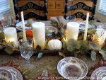 Fall-Autumn Table Inspiration & a Stunning Autumn Pumpkin Candlelit Centerpiece