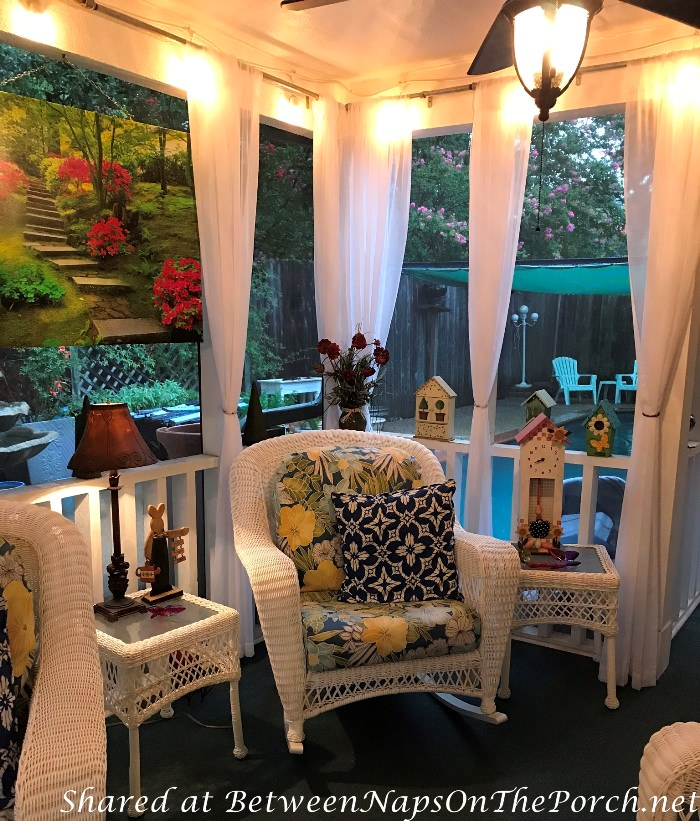 Decorate a Screened Porch for Summer