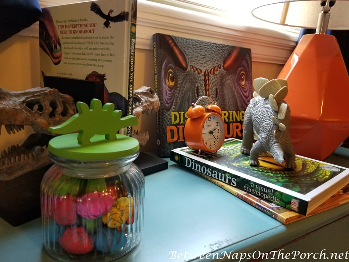 Dinosaur Eggs Hatch in Water, Boy's Dinosaur Themed Bedroom