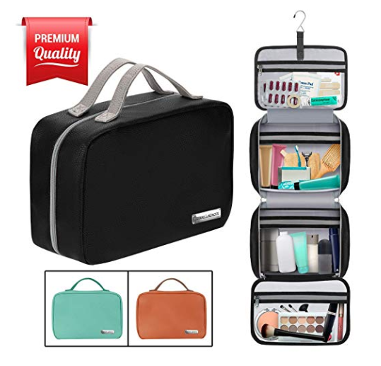Hanging Toiletry Bag with Compartments for Travel