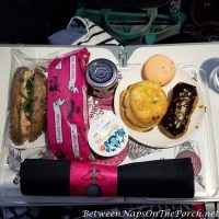 Having Mile High Tea on a Virgin Atlantic Flight