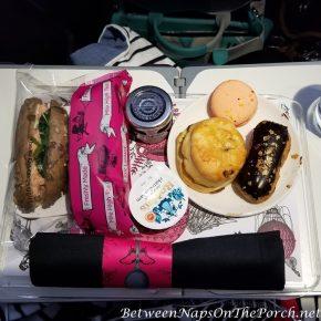 Having Mile High Tea on a Virgin Atlantic Flight