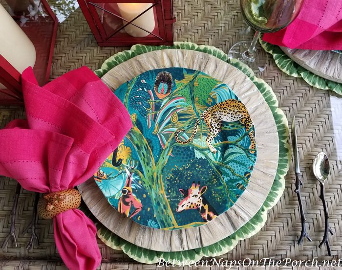 Jungle Dinner Plates for Safari Themed Table Setting