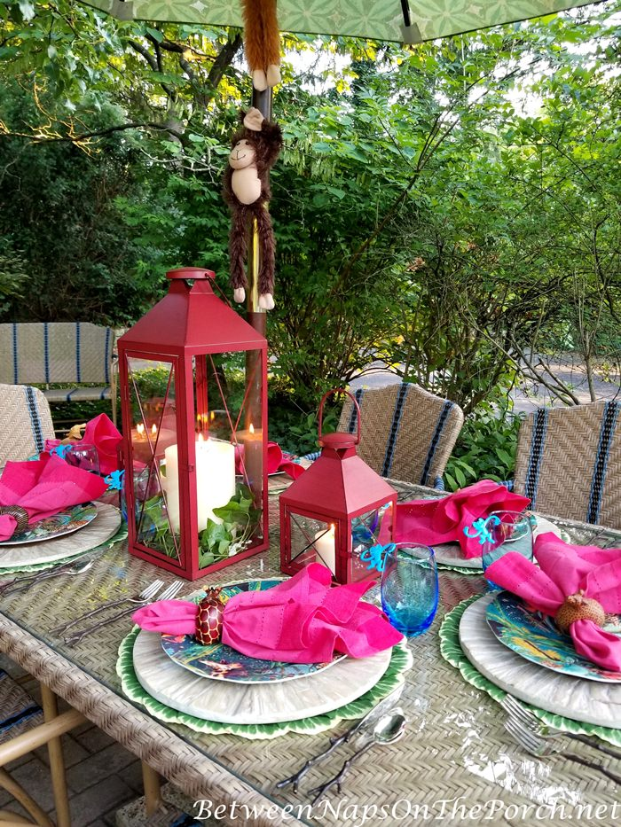 Kid's Table Setting, Animal Jungle Theme