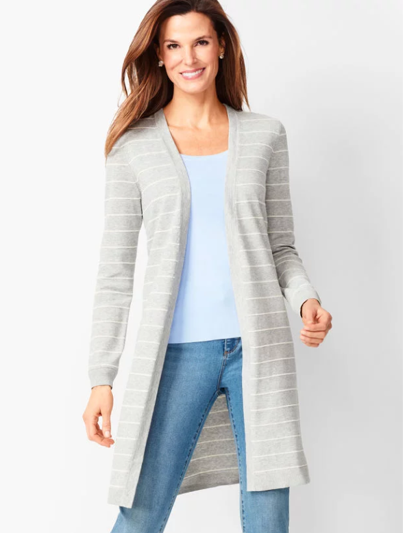 Long Duster Cotton Sweater