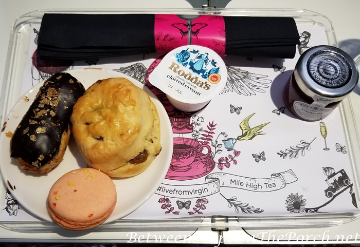 Mile High Tea Includes Eclair, Macaron, Scone with Clotted Cream and Jam, Virgin Atlantic