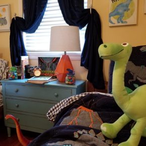 Orange Lamp, Boy's Bedroom