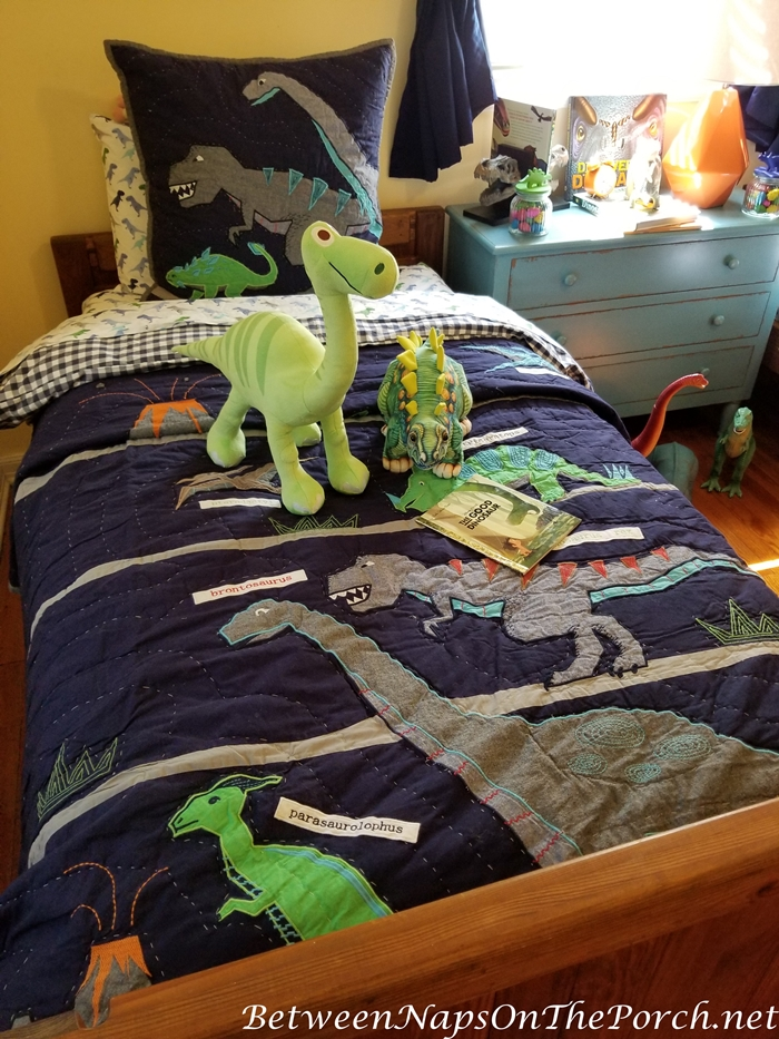 Pottery Barn Dinosaur Quilt and Bedding