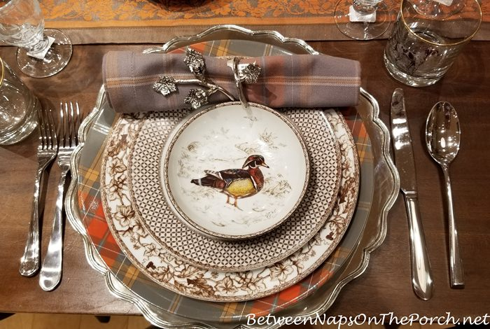 Autumn Dinnerware with Woodland Birds