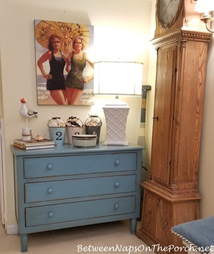 Blue Painted Chest, Beach House Style