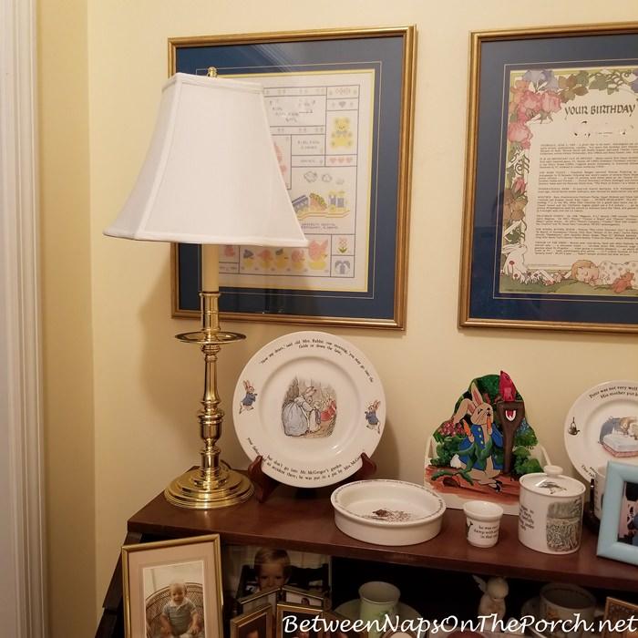 Candlestick Brass Lamp