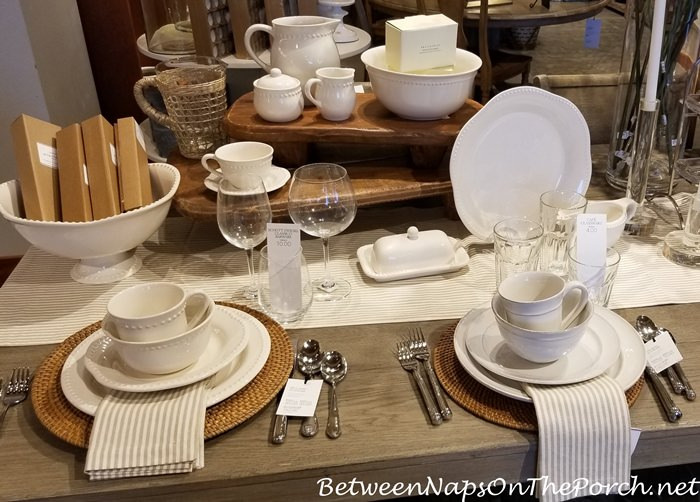 Cream White Dinnerware for Autumn
