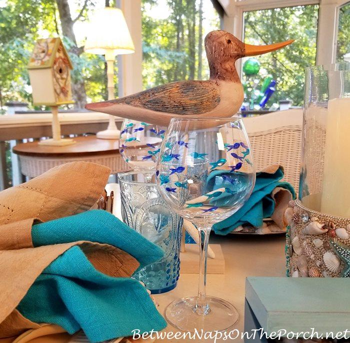 Fish Designed Wine Glasses