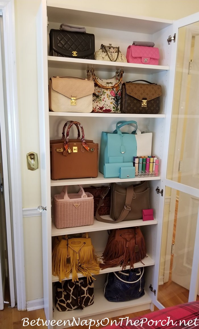 Handbag Storage, Ikea Billy Oxberg