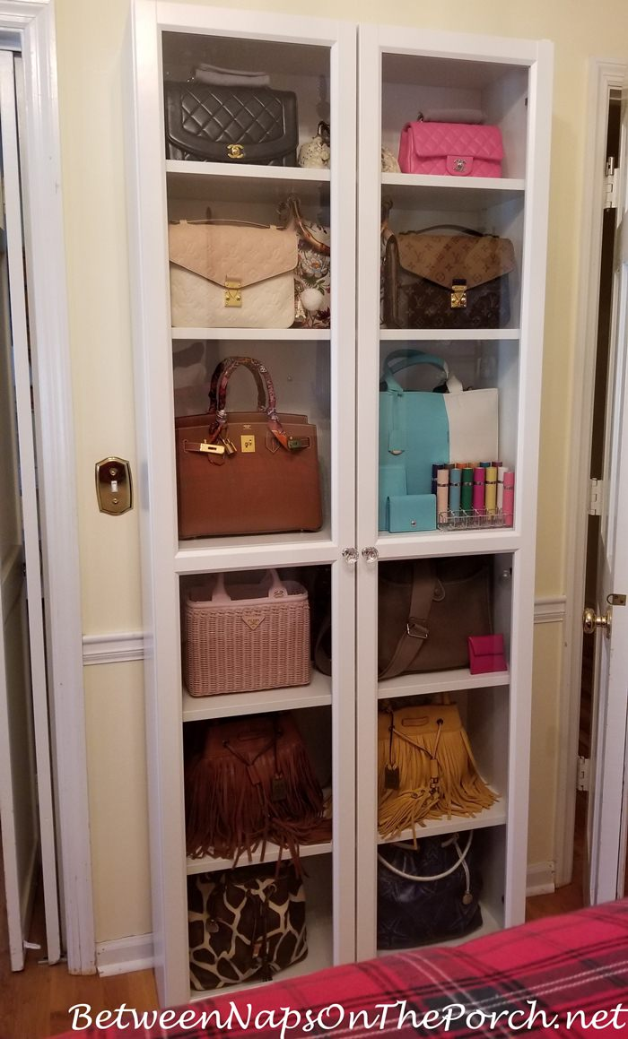 Handbag Storage with Ikea Billy Oxberg
