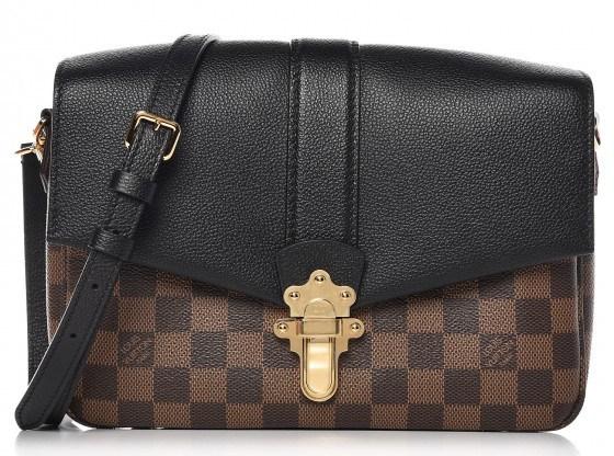 Louis Vuitton Clapton Bag, Black and Damier Ebene on sale