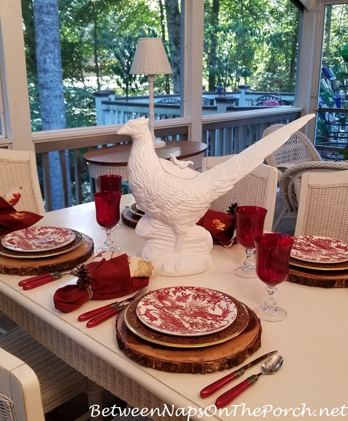 Pheasant Centerpiece for Autumn Fall Table