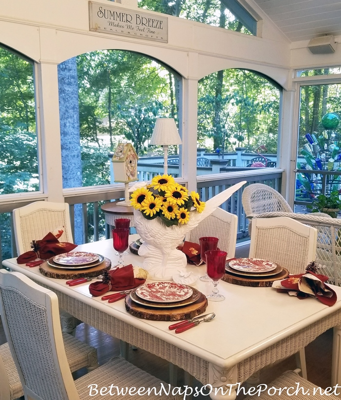 Porch Dining for Fall-Autumn