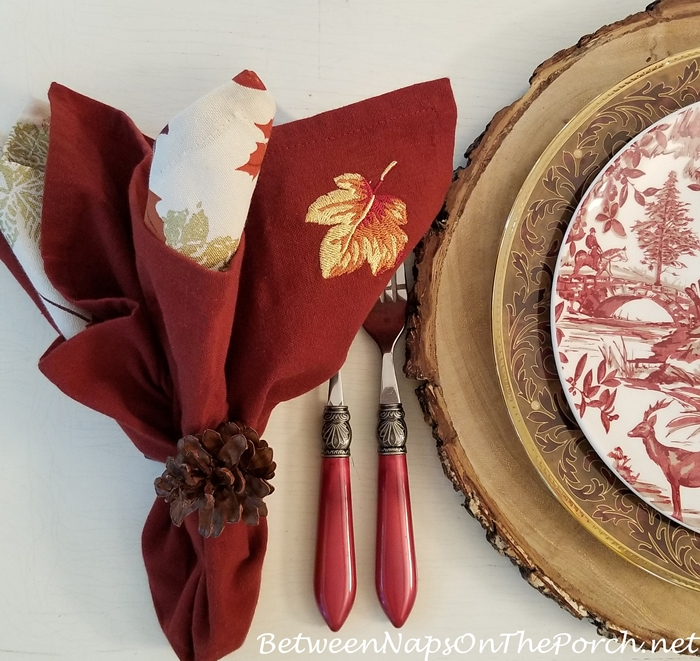 Red Flatware for Autumn Fall Dining