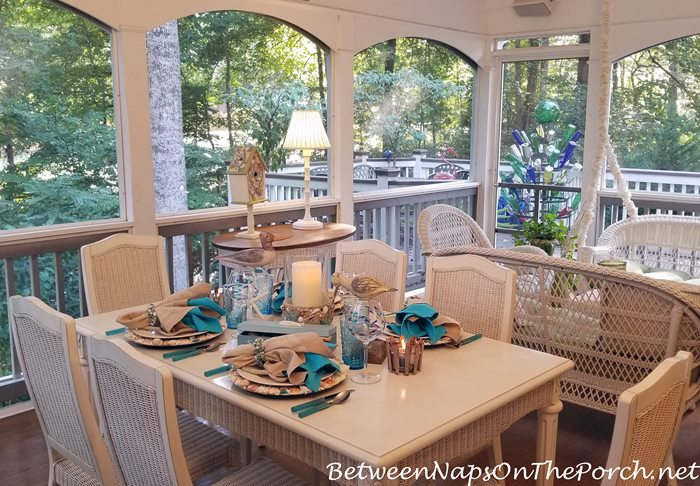 Screened Porch Dining, Summer Dining Outdoors