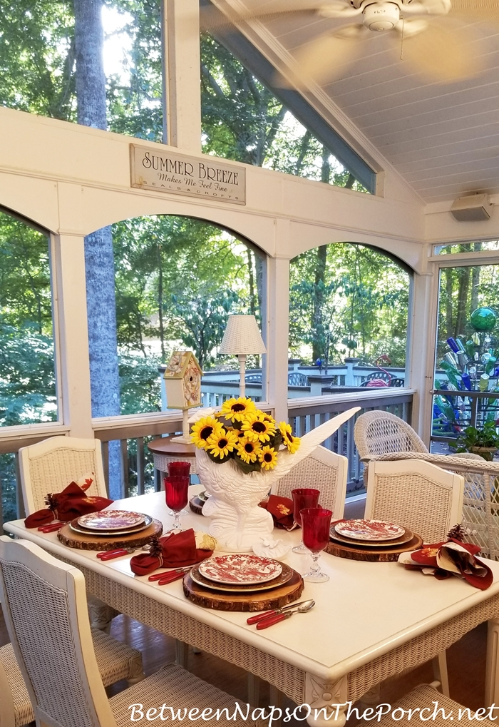 Screened Porch Dining for Autumn