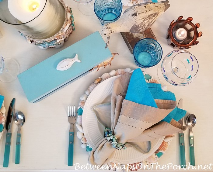 Sea glass Style Flatware for a Beachy Nautical Table Setting