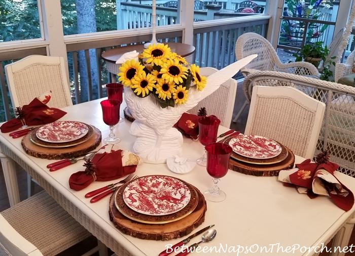 Sunflower Centerpiece for Autumn Table