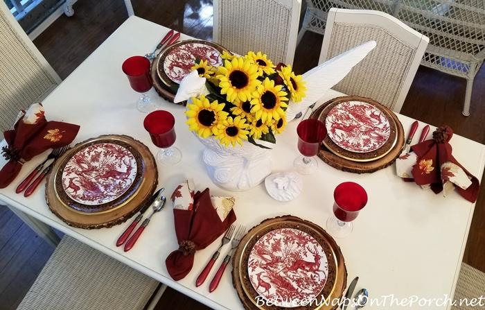 Sunflowers for an Autumn Fall Table