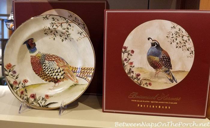 Thanksgiving Dinnerware, Pheasant Design