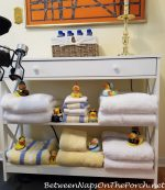 An Absolutely Ducky Idea for Shelving in a Bathroom or Linen Closet