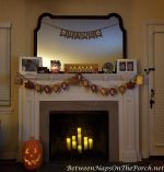 An Autumn Fireplace & A Realistic-Looking Artificial Christmas Tree