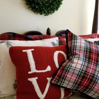 Dressing the bed for winter in plaid, flannel and tartan