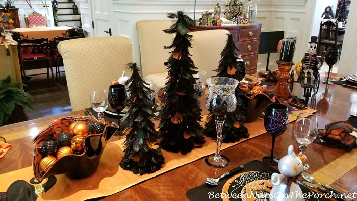 Elegant Halloween Table Setting