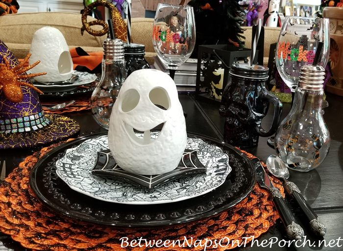 Ghost Votive Holder for a Halloween Table