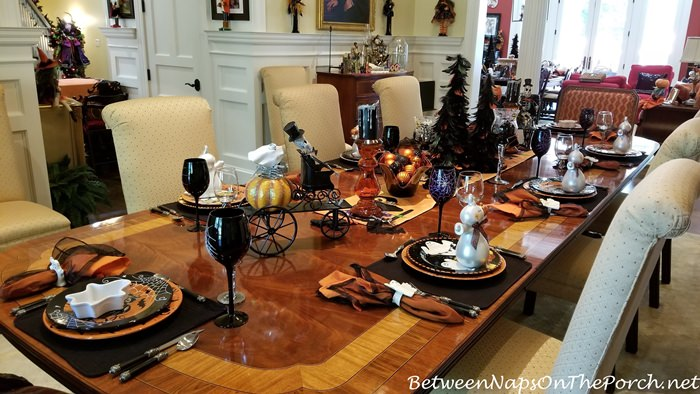 Halloween Elegant Table Setting Ideas, 2019