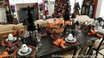 Whimsical Halloween Table with Light Bulb Glasses