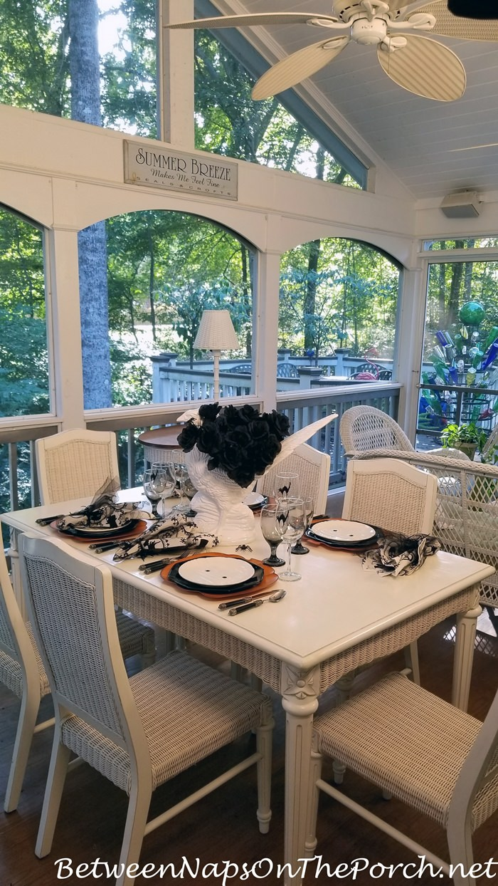 Halloween Tablescape, Table Setting, 2019