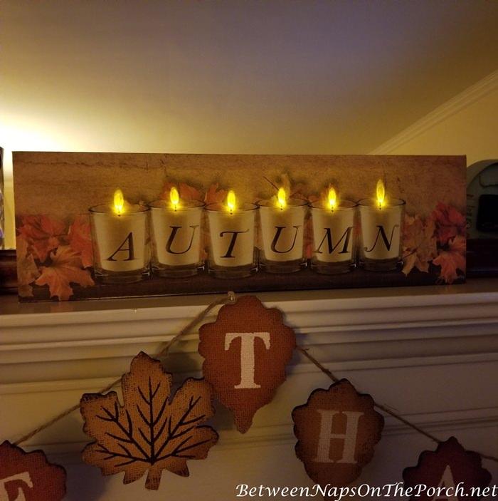 Lit Autumn Sign