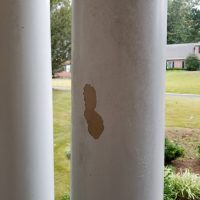 Peeling Porch Columns