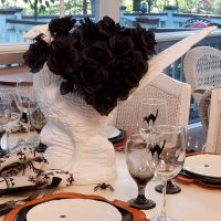 Pheasant Centerpiece for a Halloween Table Setting