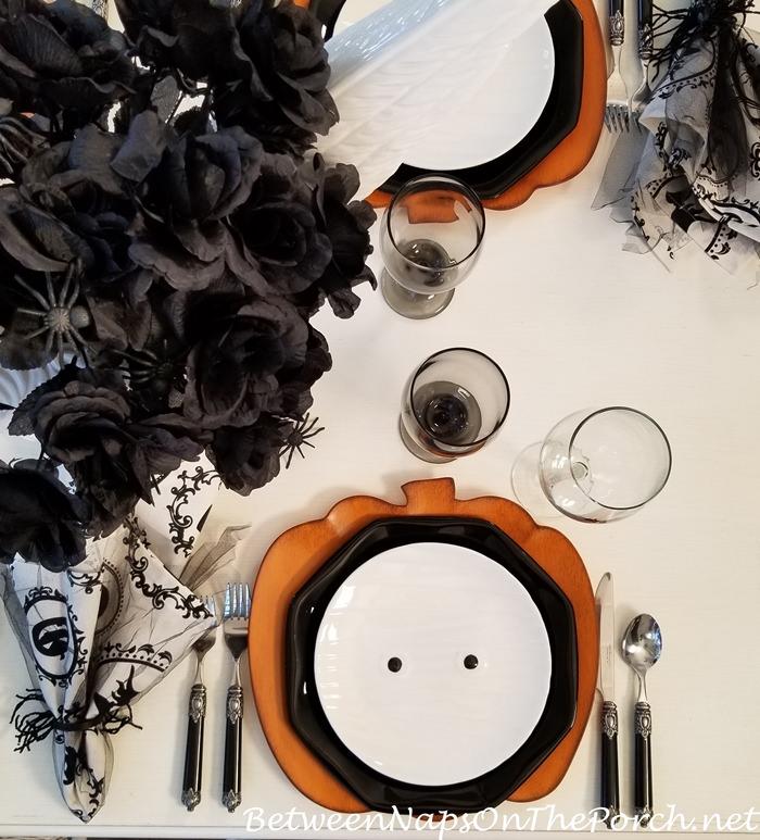 Pumpkin Chargers, Mummy Plates, Halloween Napkins